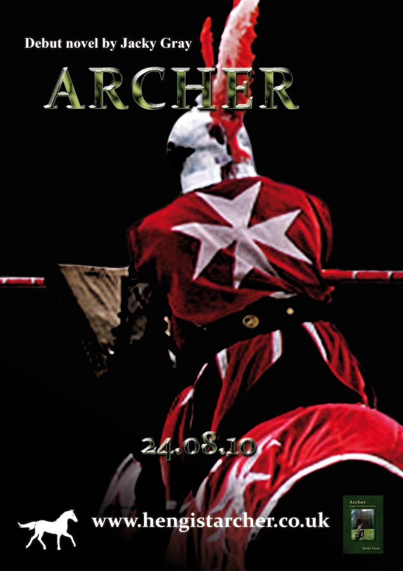 Archer promotional poster (black)