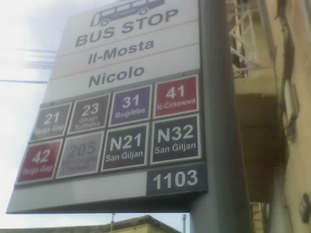Bus Stop Service information