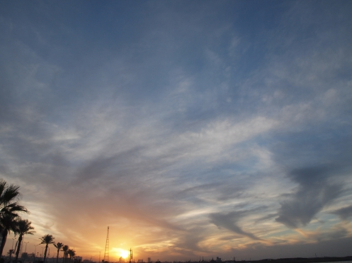The Sky over Tripoli in October