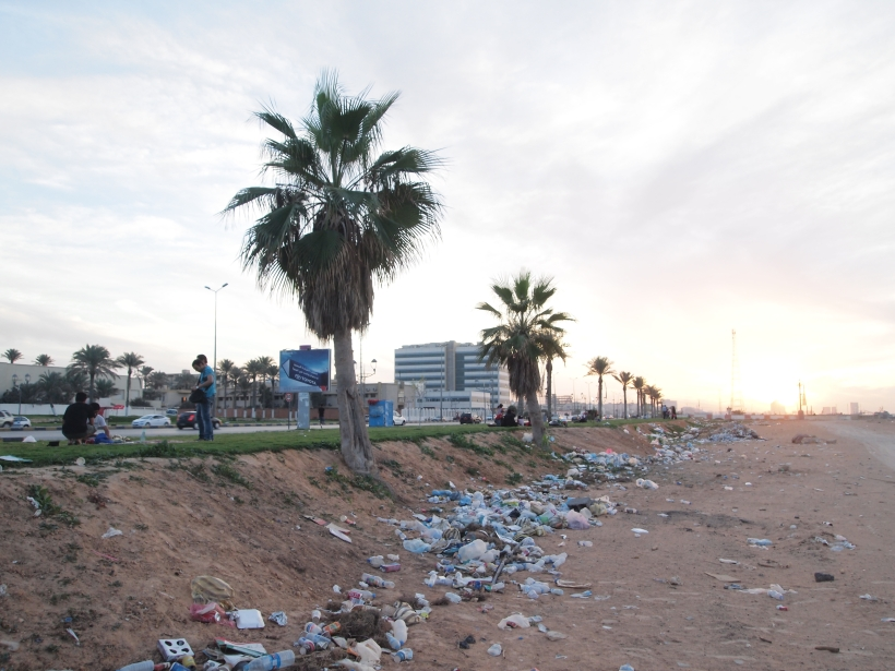 The Litter along Tripoli's Coast