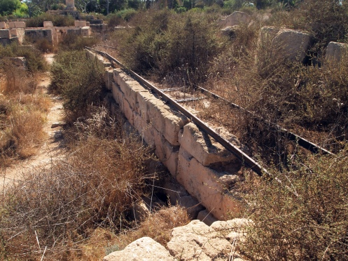 Sabratha: Roman Ruins in Libya: Section of Italian railway