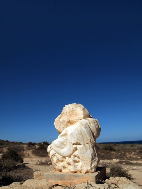 Sabratha: Roman Ruins in Libya: One of the few remaining sculpture pieces