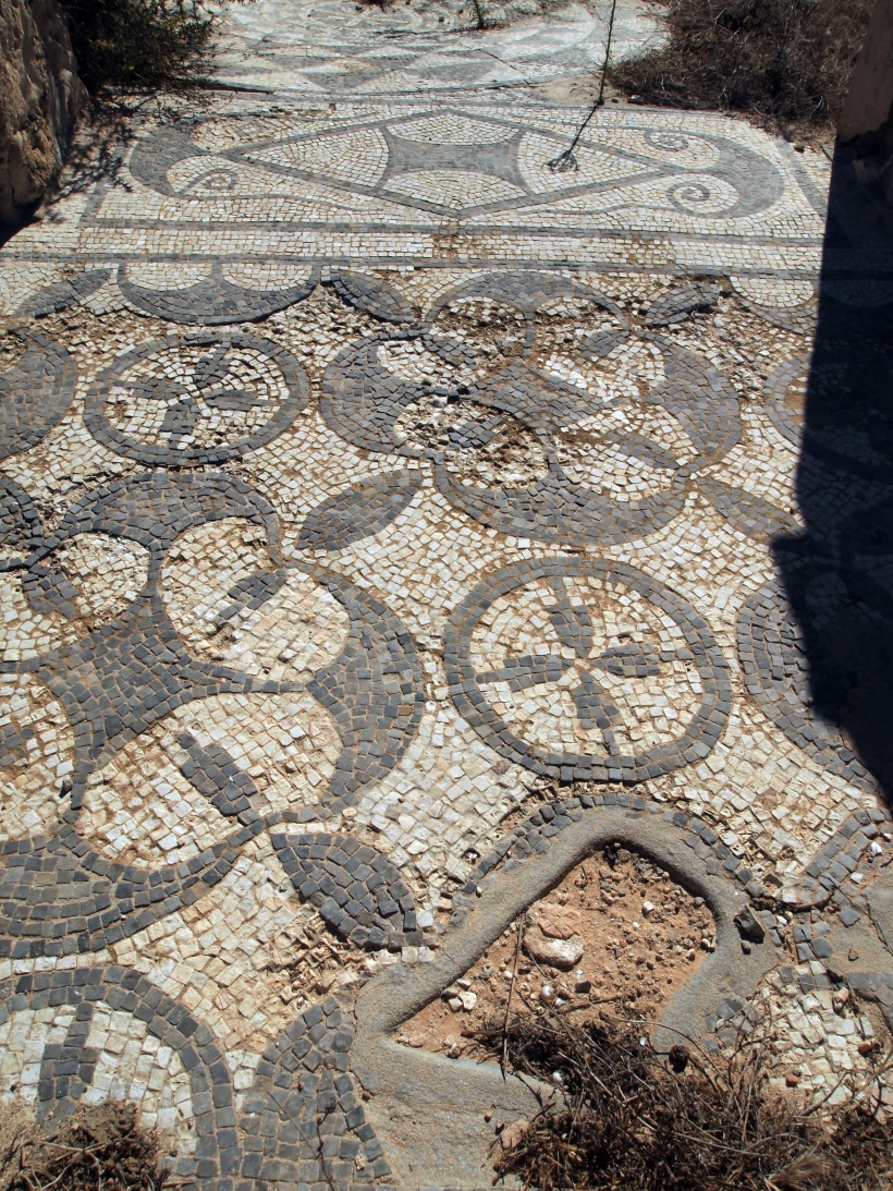 Sabratha: Roman Ruins in Libya: Portion of Mosaic
